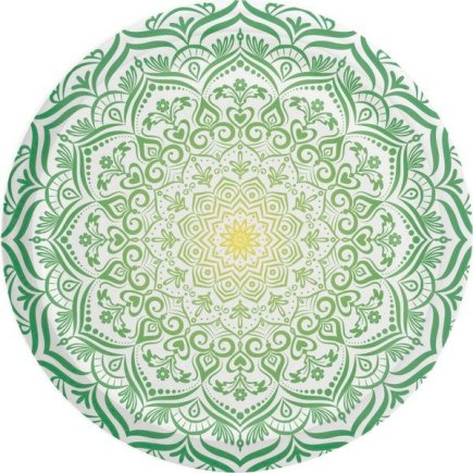 Šroubovací víčko Mandala 66 mm 10 ks, zelené