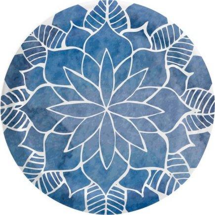 Šroubovací víčko Mandala 66 mm 10 ks, modré