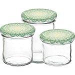 Zavařovací sklenice Gastro 120 ml 6 ks, víčko dekor Mandala zelené