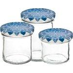 Zavařovací sklenice Gastro 120 ml, víčko dekor Mandala modré