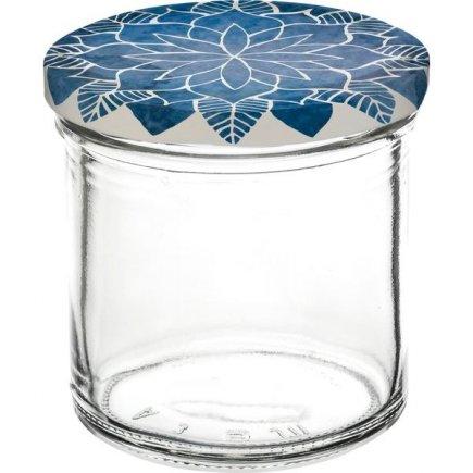 Zavařovací sklenice Gastro 167 ml 6 ks, víčko dekor Mandala modré