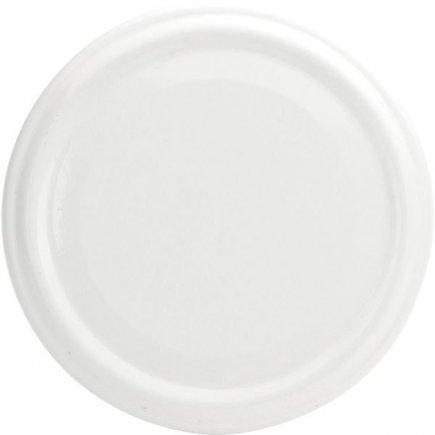 Náhradní šroubovací víčko Gastro 70 mm 10 ks, bílé, pro octové nálevy
