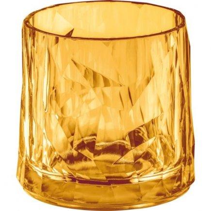 Sklenice plastová Koziol Club 250 ml, jantarová