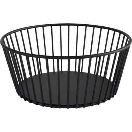 Košík kovový APS Urban 20 cm, černý