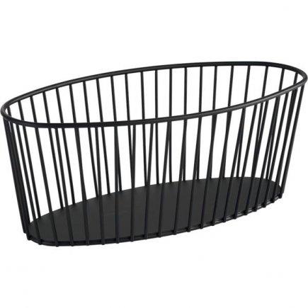 Košík kovový APS Urban 34x14 cm, černý