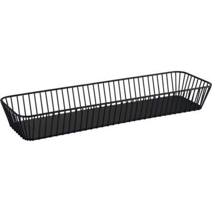 Košík kovový APS Urban 53x16,2 cm GN 2/4, černý
