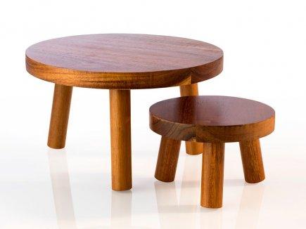 Bufetový stojan dřevěný APS Element 15 cm