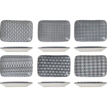 Talíř mělký Cosy&Trendy Nikko 26x17,5 cm, různé dekory