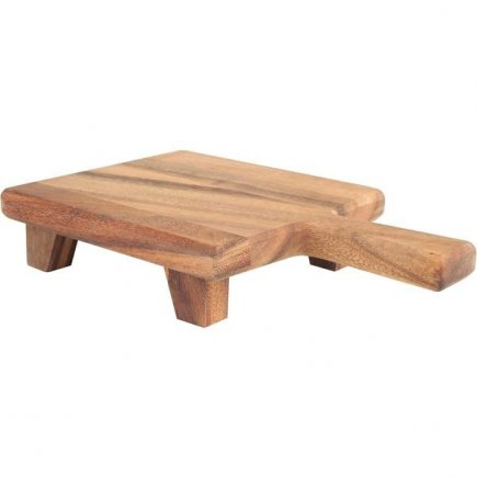 Dřevěné prkénko s nožičkami Rustic 34x21 cm