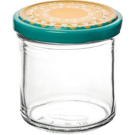 Zavařovací sklenice 167 ml, víčko dekor Ornamenty