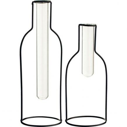 Sada skleněných váz Gusta 20 a 25 cm
