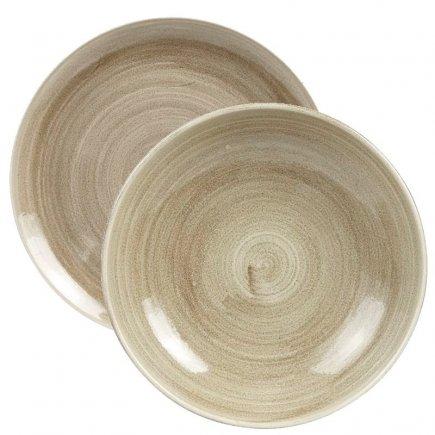 Sada talířů 12-dílná Churchill Patina Antique Taupe