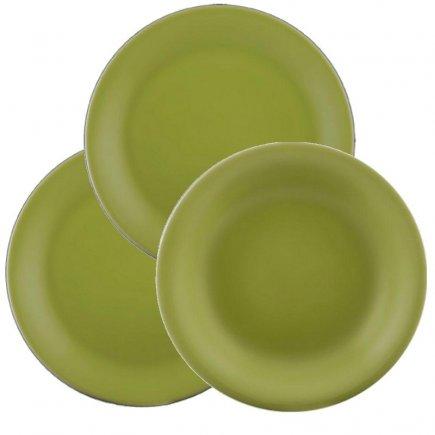 Sada talířů 18-dílná Lilien Daisy, zelená