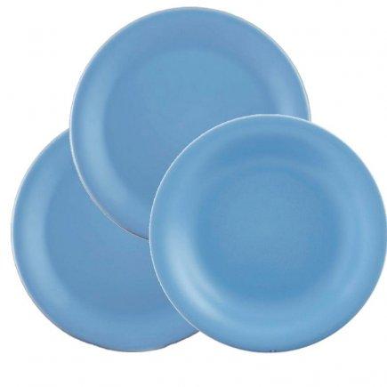 Sada talířů 18-dílná Lilien Daisy, azurová