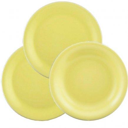 Sada talířů 12-dílná Lilien Daisy, žlutá