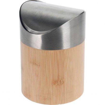 Koš na odpadky bambus/nerez 1,5 l