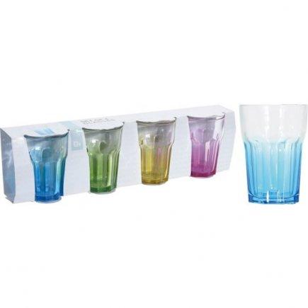 Sada 4 univerzálních sklenic Colour 360 ml