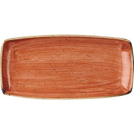 Talíř mělký Churchill Stonecast Spiced Orange 29,5x15,5 cm