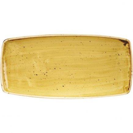 Talíř mělký Churchill Stonecast Mustard Seed Yellow 29,5x15,5 cm
