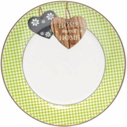 Talíř mělký Flirt by R&B Country Home 20,5 cm, zelený