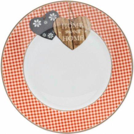 Talíř mělký Flirt by R&B Country Home 20,5 cm, červený