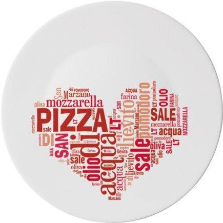 Talíř na pizzu Bormioli Rocco Love 33 cm, červený