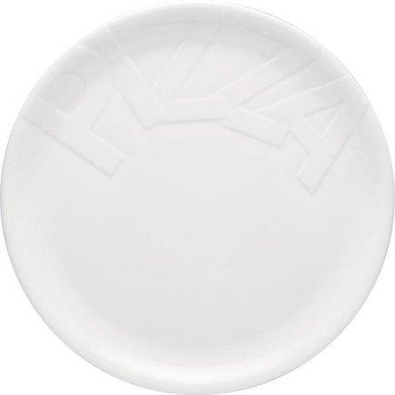 Talíř na pizzu 32 cm, s nápisem PIZZA, bílý, kulatý, model Gourmet, Gastro