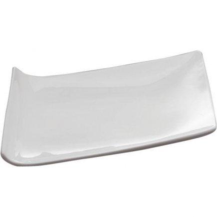 Talíř servírovací Sandra Rich Trapez 25,5x18,5 cm, bílý